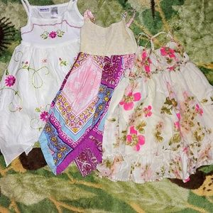 EUC Bundle of 3 Girl's Boho 3T Summer Dresses